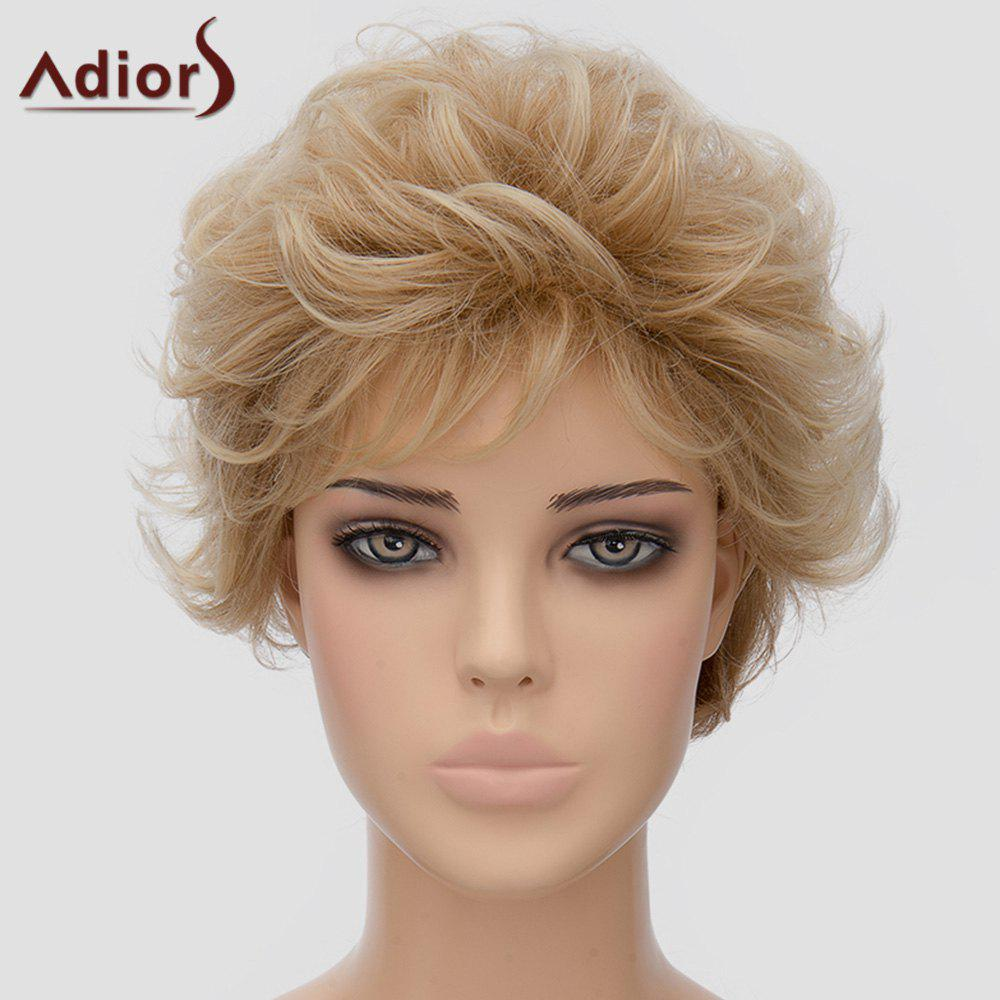 Fluffy Adiors Short Heat Resistant Synthetic Women's Wig - LIGHT BROWN