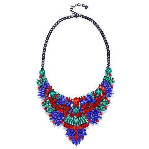 Gorgeous Colorful Faux Crystal Oval Necklace For Women