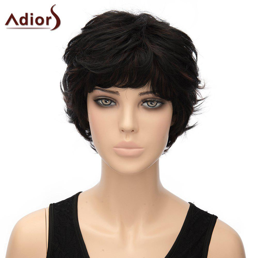 Fluffy Straight Anti Alice Hair Synthetic Stylish Short Black Women's Adiors Wig - BLACK