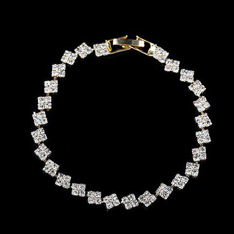 Charming Rhinestoned Square Bracelet For Women