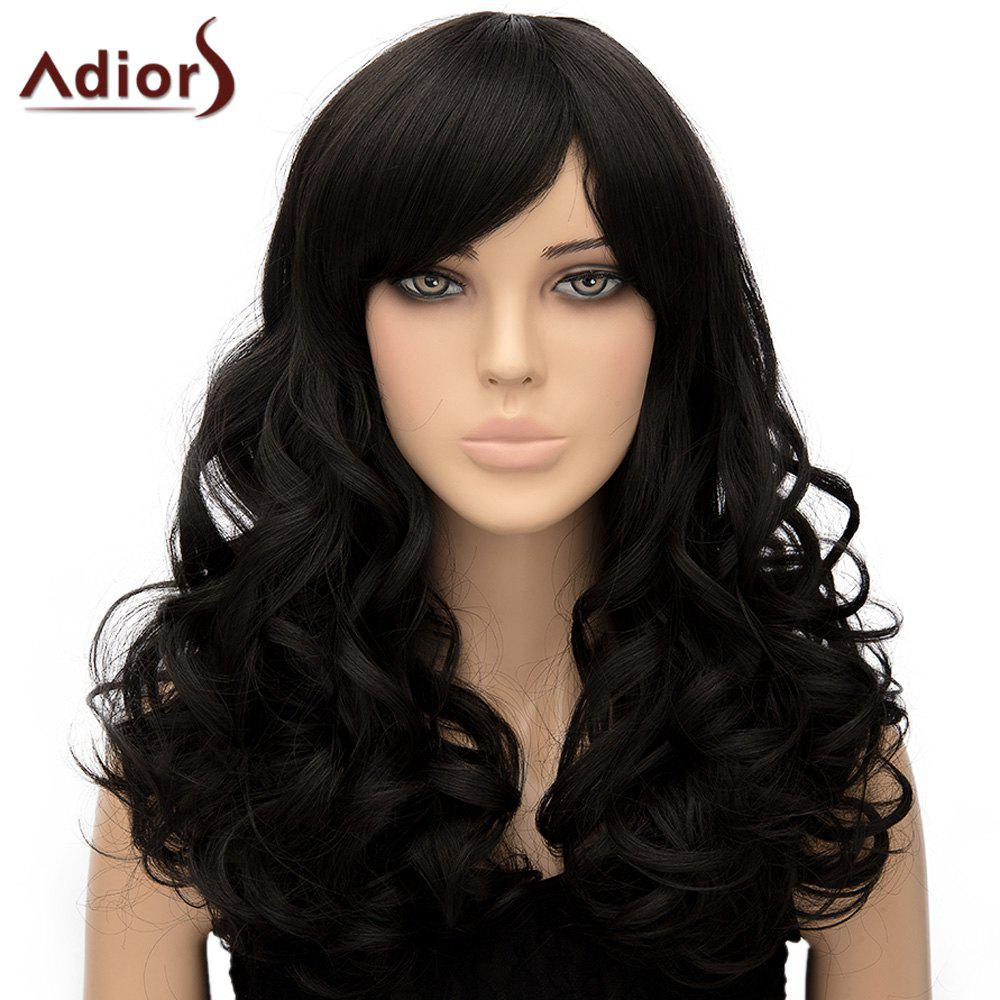 Women's Stylish Adiors Side Bang Curly Long High Temperature Fiber Wig