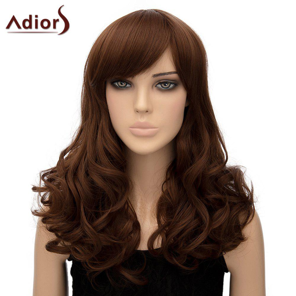 Women's Trendy Adiors Long Curly High Temperature Fiber Wig - LIGHT BROWN