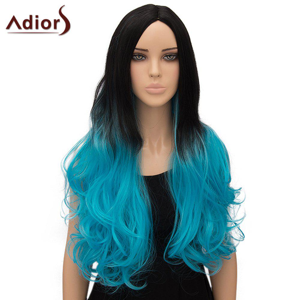 Fashion Adiors Curly Ombre Long High Temperature Fiber Women's Cosplay Wig - OMBRE