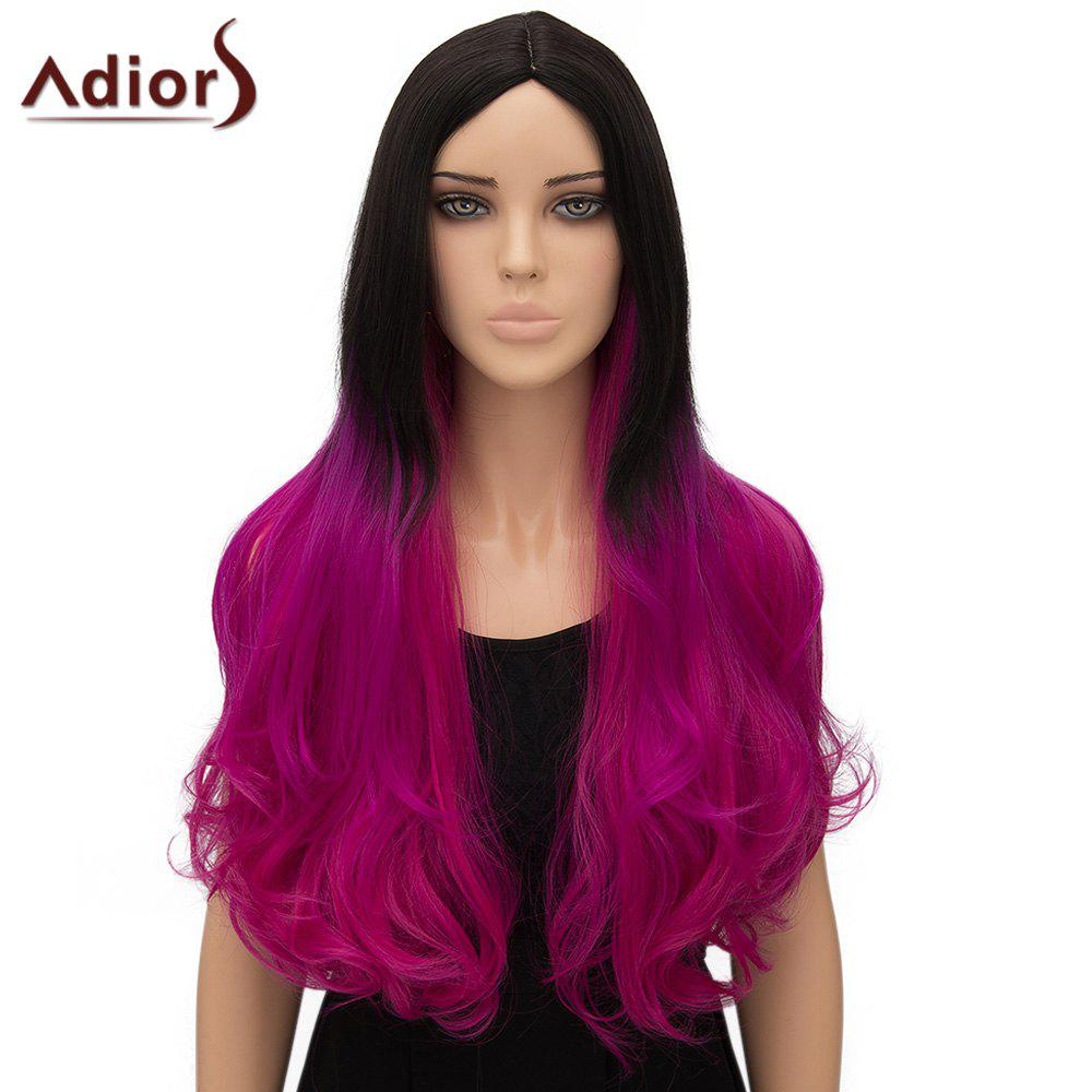 Stylish Adiors Curly Ombre Long High Temperature Fiber Women's Cosplay Wig - OMBRE