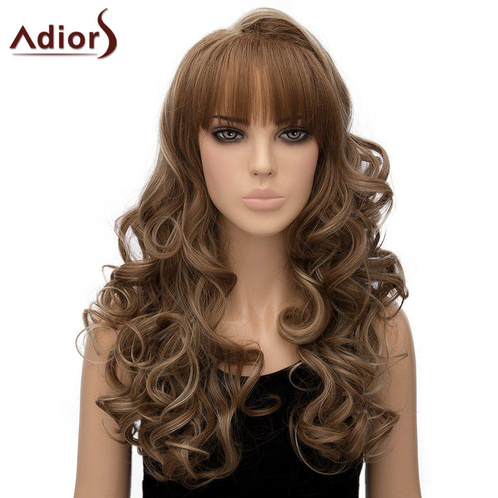 Stylish Women's Adiors Curly Long Heat Resistant Synthetic Cosplay Wig - COLORMIX