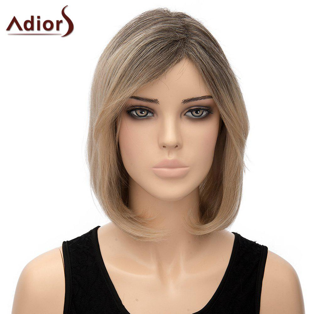 Bob Style Short Capless Stylish Straight Ombre Color Synthetic Adiors Wig For Women - OMBRE