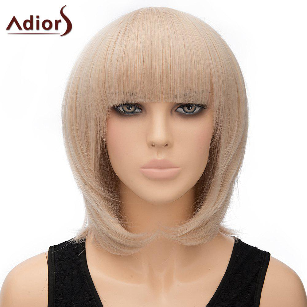Bob Hairstyle Short Vogue Straight Light Blonde Synthetic Adiors Wig For Women - LIGHT GOLD