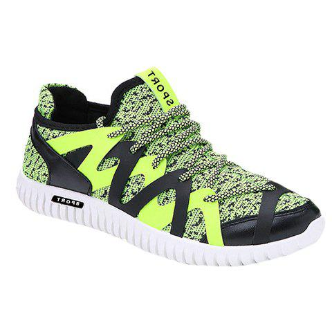 Stylish Color Matching and Splicing Design Men's Casual Shoes - GREEN 42