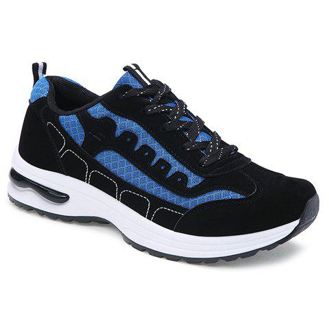 Stylish Mesh and Color Block Design Men's Athletic Shoes - BLUE 40