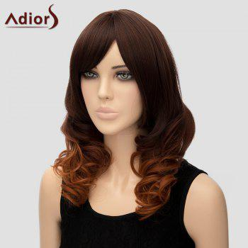 Stylish Women's Adiors Curly Heat Resistant Synthetic Cosplay Wig - OMBRE