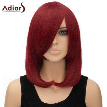 Women's Trendy Inclined Bang Straight High Temperature Fiber Adiors Cosplay Wig