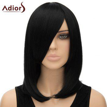 Nobby Women's Adiors Straight Inclined Bang High Temperature Fiber Cosplay Wig