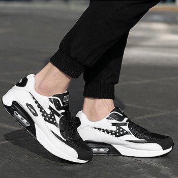 Trendy Star Pattern and Splicing Design Men's Athletic Shoes - WHITE/BLACK 41