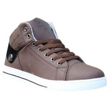 Stylish Color Matching and Lace-Up Design Men's Casual Shoes