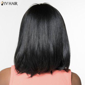 Women's Siv Hair Fashion Side Bang Natural Straight Human Hair Wig -  GOLDEN BROWN/BLONDE