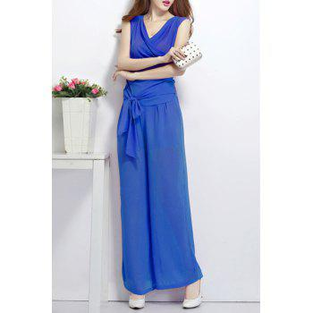 Sleeveless Top with Wide Leg Culotte Pants