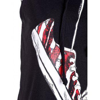 Hooded Sleeveless Shoes Printed Crop Top - XL XL