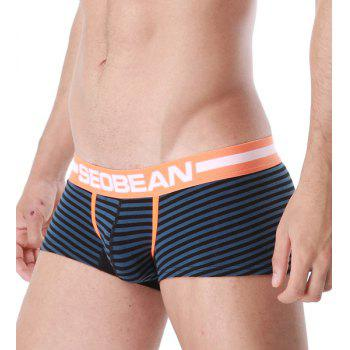 U Pouch Design Letter Print Stripe Men\'s Boxer Brief - M M