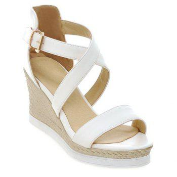 Fashionable Cross Straps and Platform Design Women's Sandals