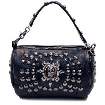 Punk Skull and Rivet Design Women's Tote Bag