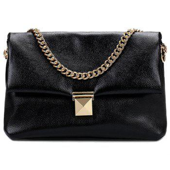 Trendy Chain and Solid Color Design Women's Shoulder Bag