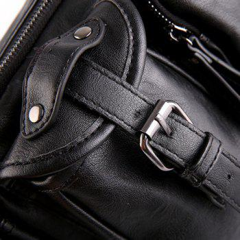 Élégant Buckle et noir Color Design Men 's  Messenger Bag - Noir