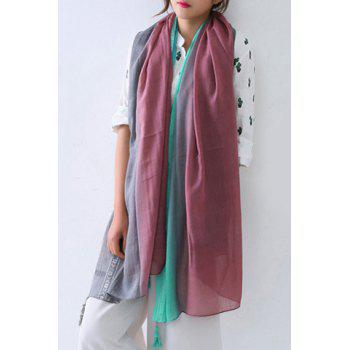 Chic Tassel Pendant Three Gradient Colors Women's Voile Scarf