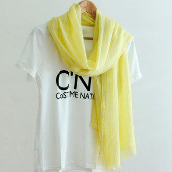 Chic Solid Color Fringed Edge Women's Voile Scarf