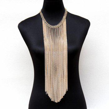 Buy Gorgeous Solid Color Long Tassel Body Chain Women GOLDEN