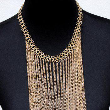 Gorgeous Solid Color Long Tassel Body Chain For Women - GOLDEN