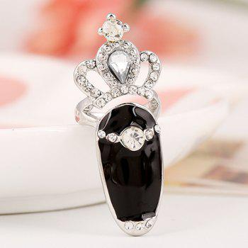 Rhinestone Crown Hollowed Ring