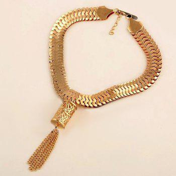 Alloy Hollow Out Chains Necklace - GOLDEN