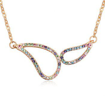 Colorful Rhinestone Hollow Out Necklace