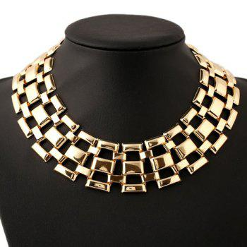 Heavy Metal Hollow Out Necklace