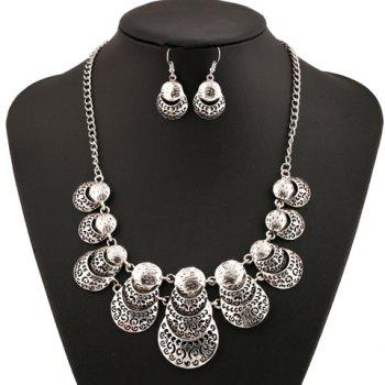 A Suit of Ladybird Hollow Out Necklace and Earrings - SILVER