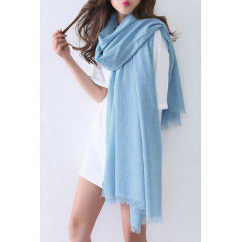 Chic Solid Color Raw Edge Women's Voile Scarf