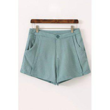 Casual Style High Waisted Pure Color Women's Shorts