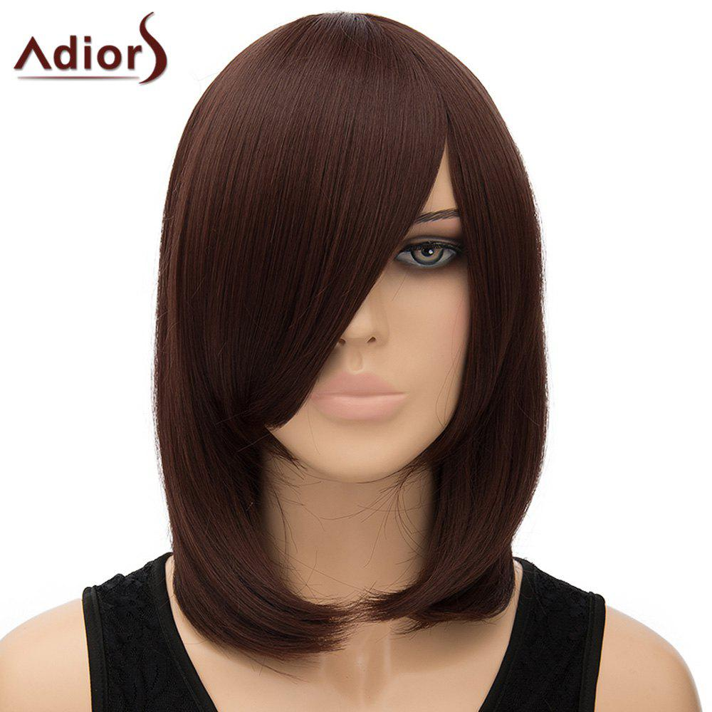Fashion Women's Adiors Straight Inclined Bang High Temperature Fiber Cosplay Wig