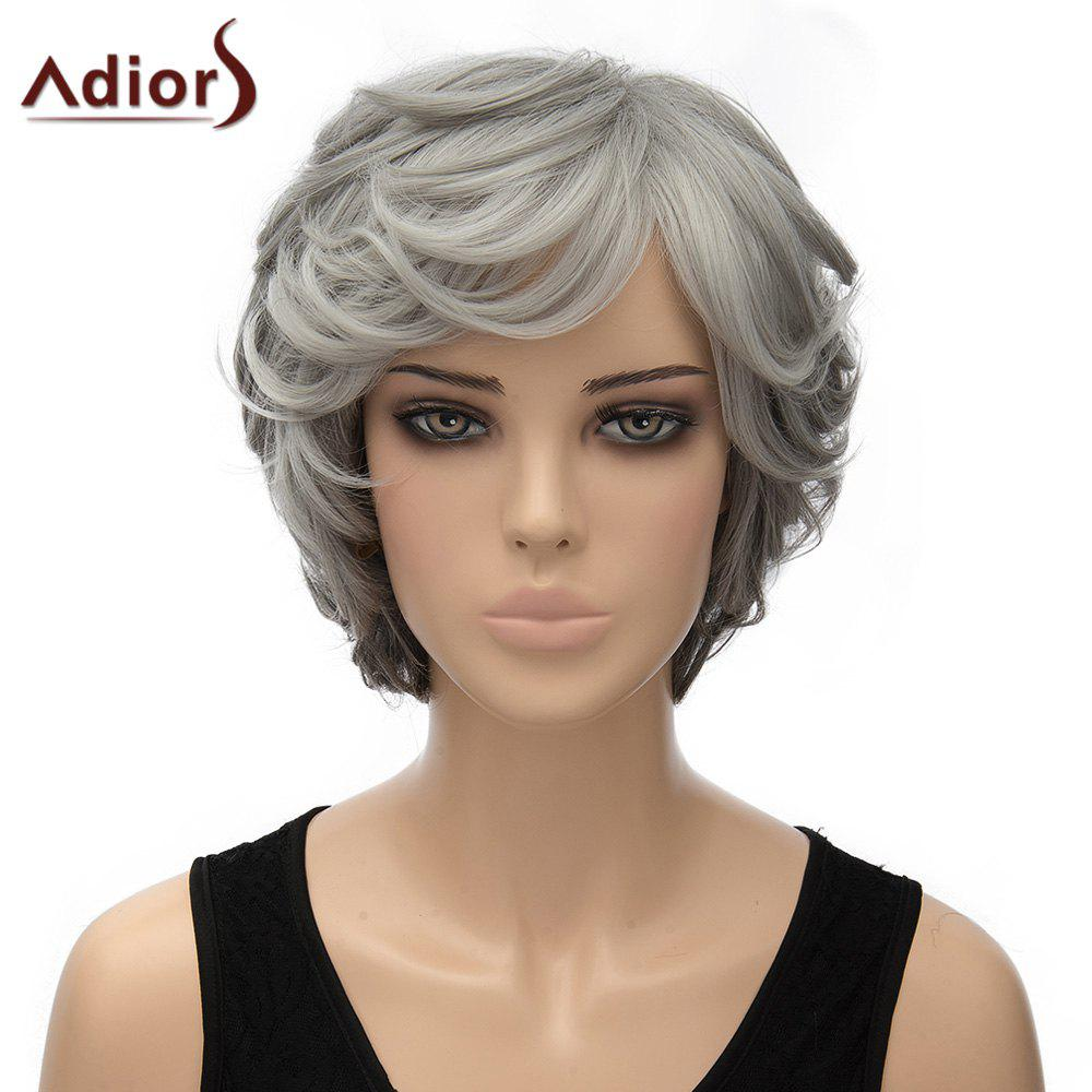 Stylish Women's Adiors Curly Short Heat Resistant Synthetic Cosplay Wig - OMBRE 2