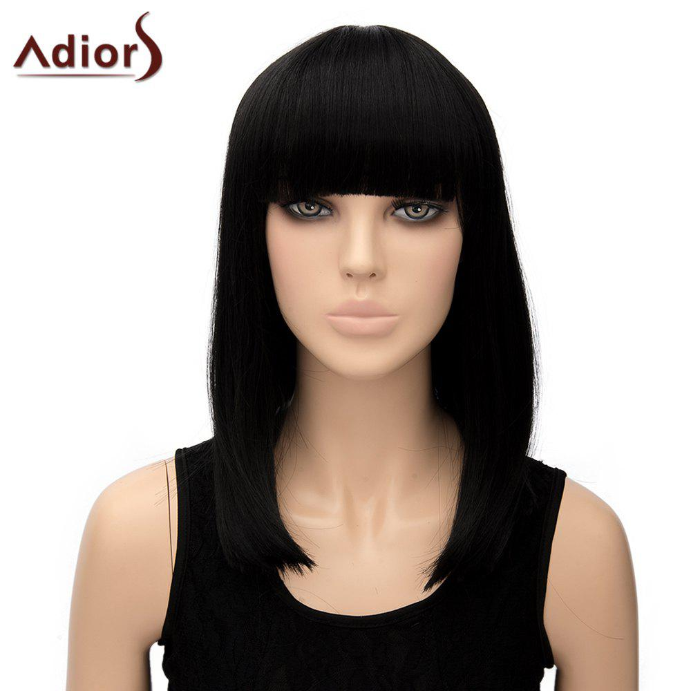 Stylish Women's Adiors Straight Full Bang Heat Resistant Synthetic Cosplay Wig