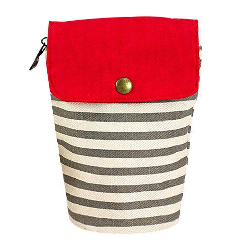 Concise Color Block and Striped Design Women's Clutch Bag - LIGHT GRAY