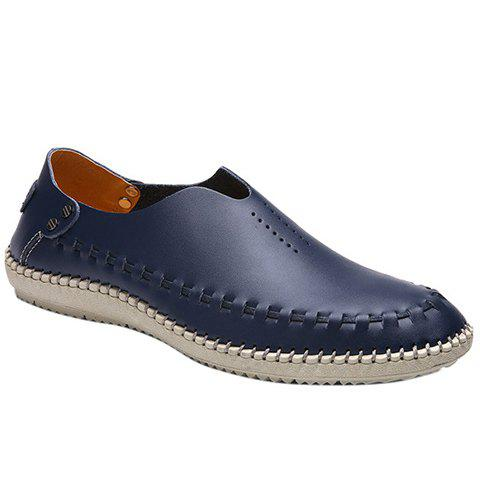 Stylish Stitching and Breathable Design Men's Casual Shoes - DEEP BLUE 39