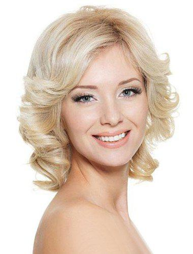 Women's Fluffy Heat Resistant Fiber Curly Wig - COLORMIX