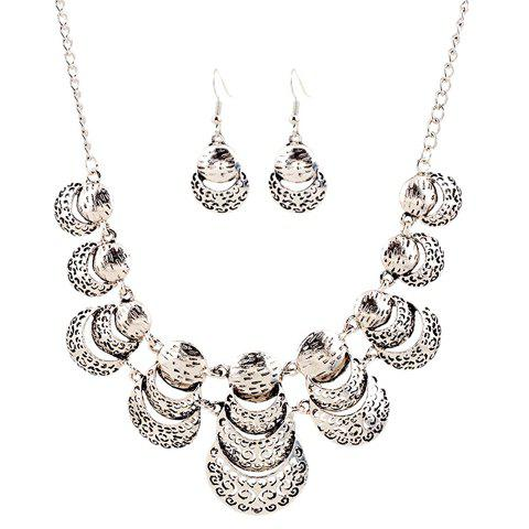 A Suit of Gorgeous Ladybird Hollow Out Necklace and Earrings For Women