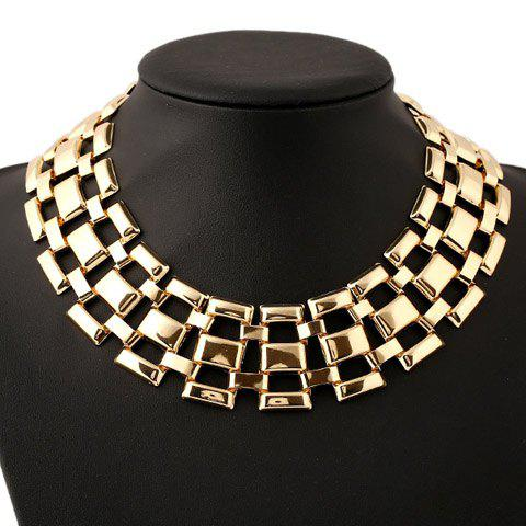 Heavy Metal Hollow Out Necklace - GOLDEN