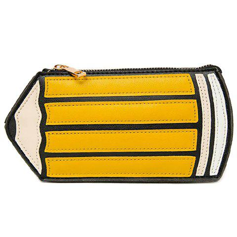 Cute Pencil Shape and PU Leather Design Women's Crossbody Bag - GINGER
