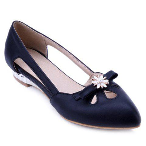 Casual Rhinestones and Hollow Out Design Women's Flat Shoes