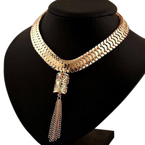 Chic Alloy Hollow Out Chains Necklace For Women