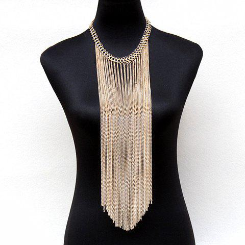 Gorgeous Solid Color Long Tassel Body Chain For Women