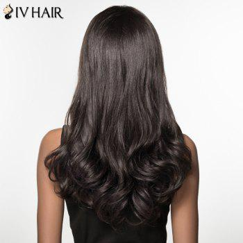 Women's Trendy Siv Hair Long Curly Inclined Bang Human Hair Wig -  JET BLACK